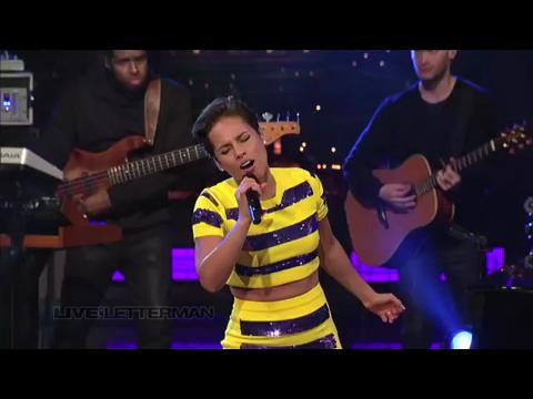 アリシア・キーズ: ノー・ワン (Live on Letterman)